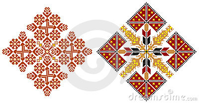 Romanian traditional carpet themes