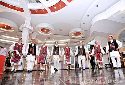 Romanian traditional dance Editorial Stock Photo