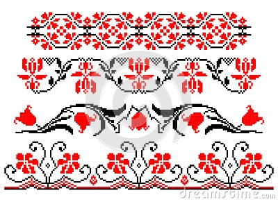 Romanian traditional floral theme - cdr format