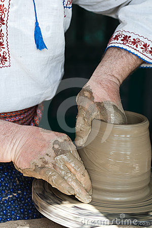Romanian traditional pottery making