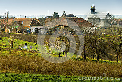 Romanian village Editorial Stock Photo