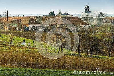 Romanian village Editorial Stock Photo
