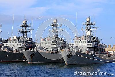Romanian warships Editorial Image