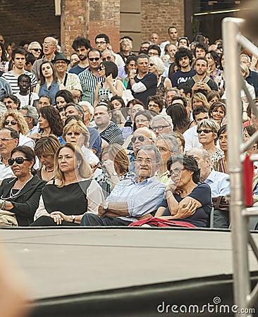 Romano prodi ex-premier in italy int the crowd Editorial Stock Image