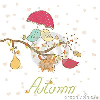 Romantic autumn card