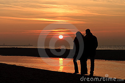 Romantic Autumnal Sun Set