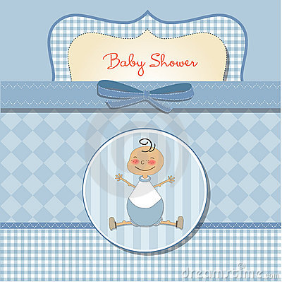 Romantic baby boy shower card