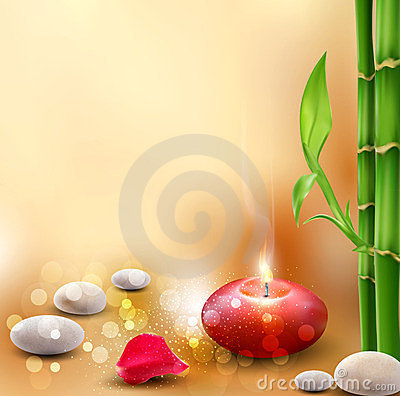 Romantic background with bamboo