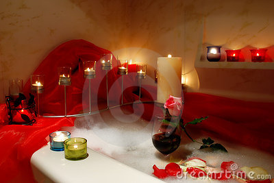 Romantic Bath Stock Images - Image: 1856644