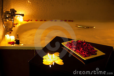 Royalty free stock photos romantic bathtub
