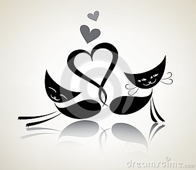 Romantic black cats