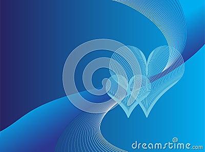 Romantic blue background