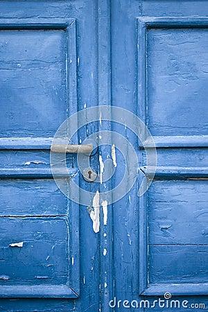 Romantic blue door