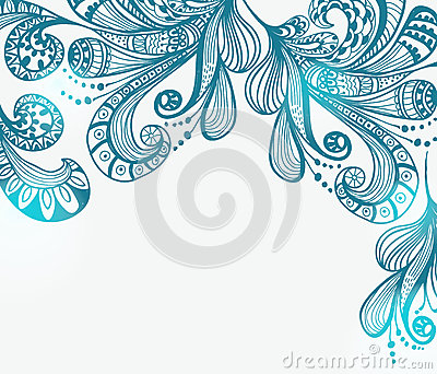 Romantic blue floral background