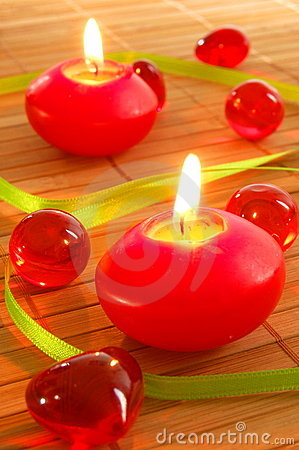 Free Romantic Candle Light Stock Images - 9877414