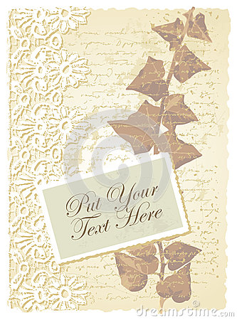Romantic card with ivy