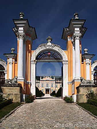 Romantic castle gate