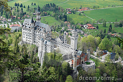 Romantic Castle Neuschwanstein, Bavaria, Germany