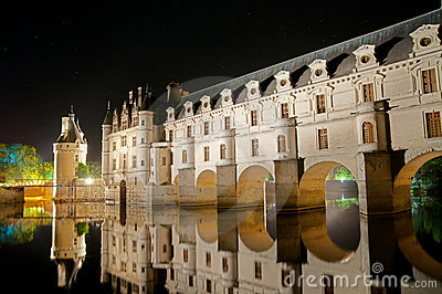 The romantic Chenonceau castle