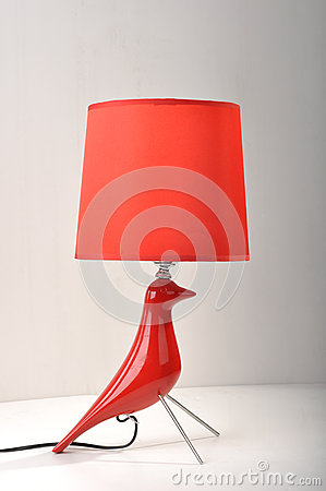 Free Romantic Christmas Gift,red Desk Lamp, Table Light,Home Furnishing Decoration Romantic Christmas Gift,Holiday Gift Valentine Gift Stock Images - 30994724