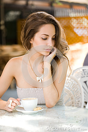 Romantic coffee girl.