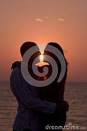 Free Romantic Couple At Sunset Stock Photos - 420783