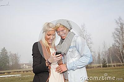 Romantic couple autumn