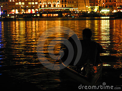 Romantic couple on boat