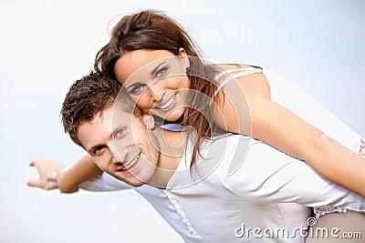Romantic Couple Enjoying Their Summer Vacation
