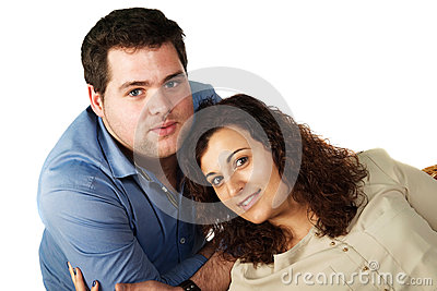 Romantic couple portrait