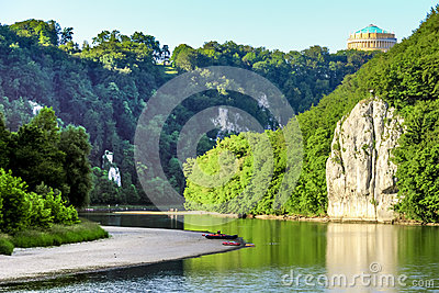 Romantic Danube gorge Stock Photo