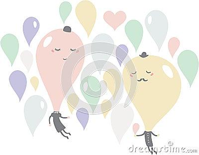 Romantic date of soap bubbles.