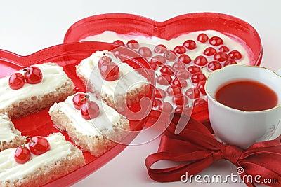 Romantic dessert.