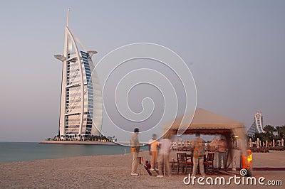 Romantic dinner in the beach of Dubai