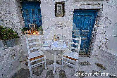 Romantic Dinner At Chora Square At Folegandros Island ...