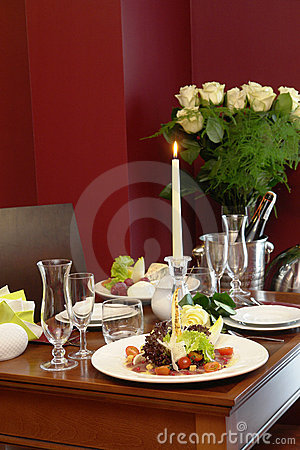 Free Romantic Dinner For Two Royalty Free Stock Photography - 3607397