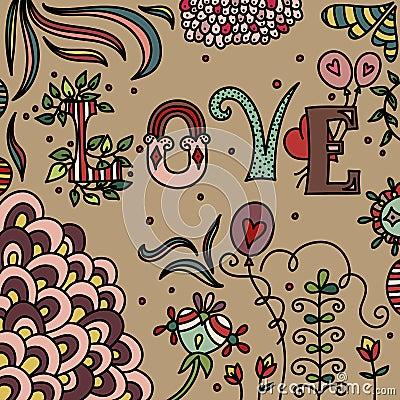 Romantic doodle