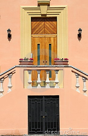 Romantic entrance door