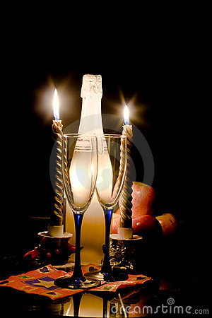 Romantic evening at candles 2