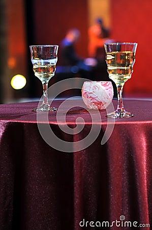 Romantic evening in restaurant