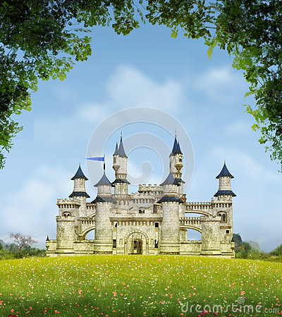 Free Romantic Fantasy Castle Royalty Free Stock Images - 93402059