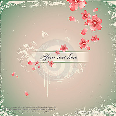 Free Romantic Floral Background Royalty Free Stock Photography - 8335707