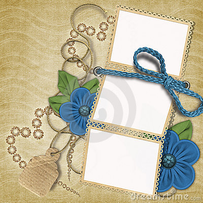 Free Romantic Frame With Flowers Stock Image - 4442881