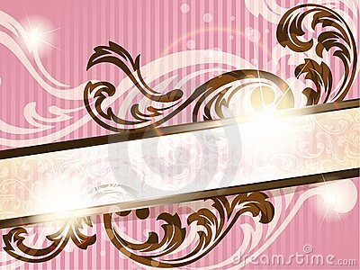 Romantic French retro banner, horizontal