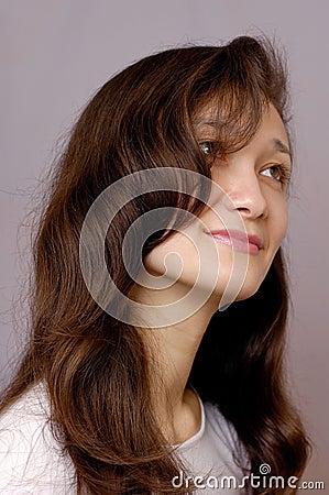 Romantic girl face