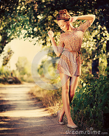 Romantic Girl Outdoor