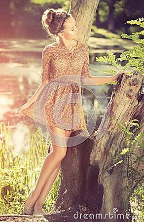 Romantic Girl Outdoor