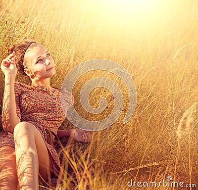 Romantic Girl Outdoors