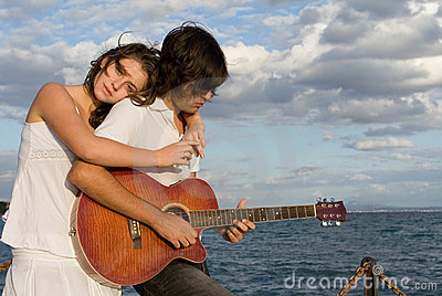 Romantic guitar couple
