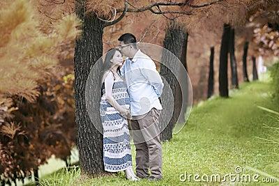 Romantic husband on autumn day